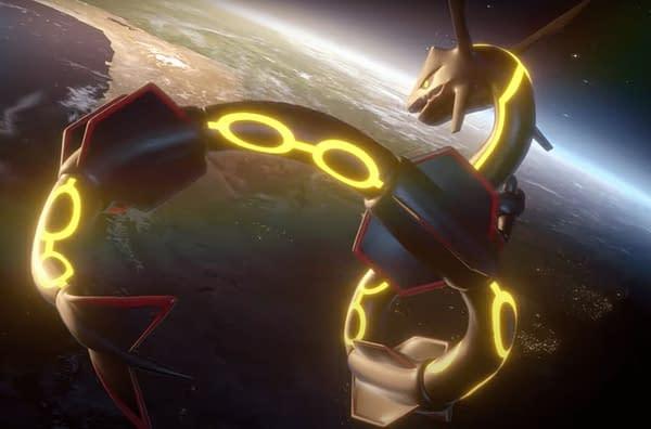 Shiny Rayquaza in Pokémon GO. Credit: Niantic.