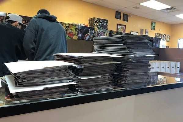 This is What $4000 Worth of Comics Waiting for 9 Customers to Pick Them Up Looks Like