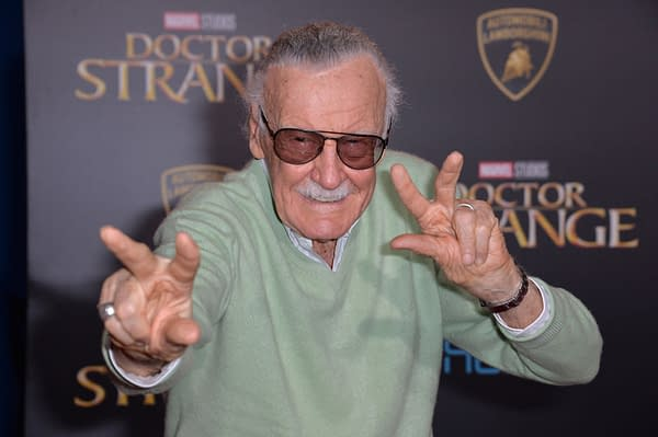 "Stan Lee at the world premiere of Marvel Studios' ""Doctor Strange"" at the El Capitan Theatre, Hollywood. Editorial credit: Featureflash Photo Agency / Shutterstock.com"