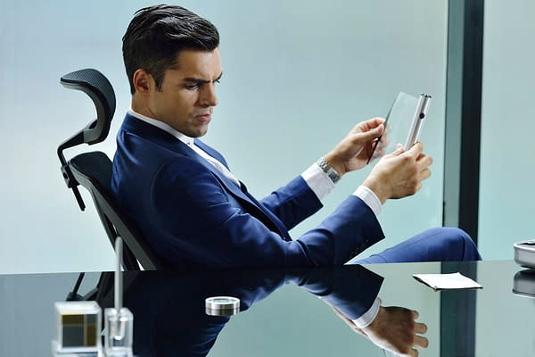 "INCORPORATED -- ""Pilot"" Episode 101 -- Pictured: Sean Teale as Ben Larson -- (Photo by: Ben Mark Holzberg/Syfy)"
