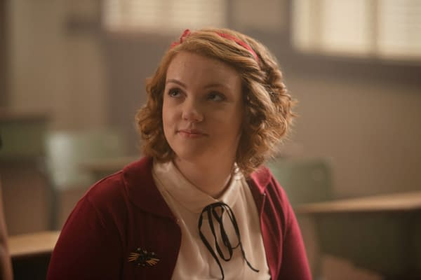 Riverdale -- Chapter Three: Body Double-- Image Number: RVD109a_0270.jpg -- Pictured: Shannon Purser as Ethel Muggs -- Photo: Diyah Pera/The CW -- © 2017 The CW Network. All Rights Reserved