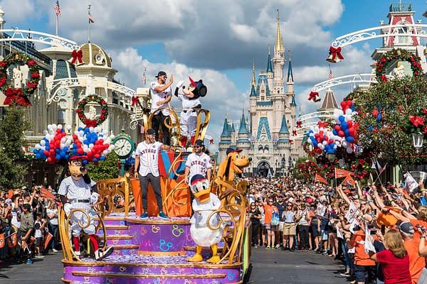 Houston Astros Celebrate Their Win In Disney World