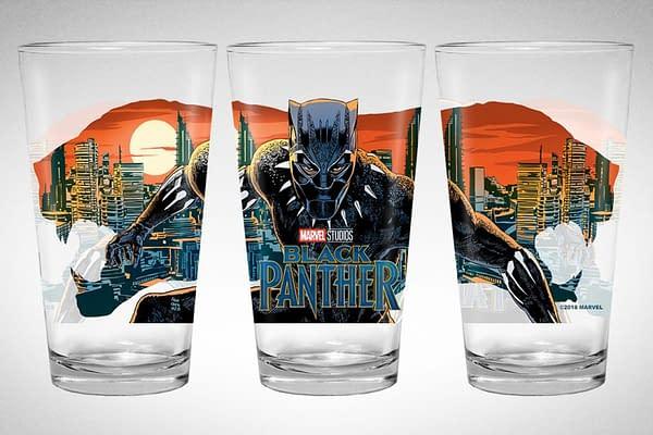Mondo Debuts Black Panther Collectible Pint Glass from Francesco Francavilla
