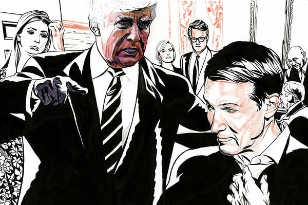 """Jeffrey Smith, On Drawing the """"Fire And Fury"""" of Donald Trump for New York Magazine"""