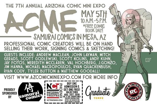Acme – Arizona Comic Mini Expo for Free Comic Book Day This Saturday