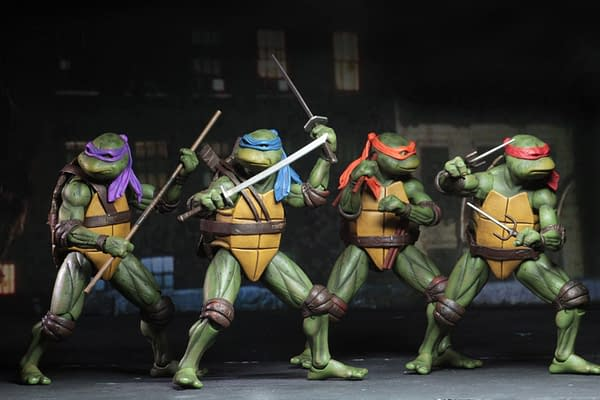 Sdcc 2018 NECA Exclusive TMNT 1990 Figure Set 12