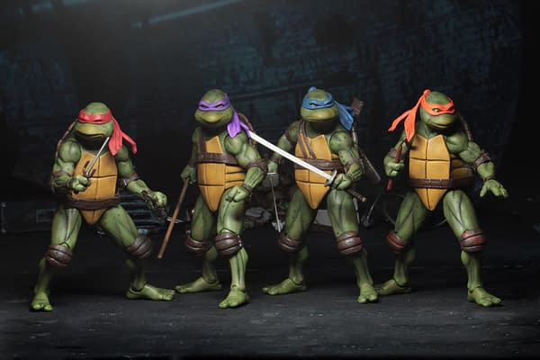 Sdcc 2018 NECA Exclusive TMNT 1990 Figure Set 4