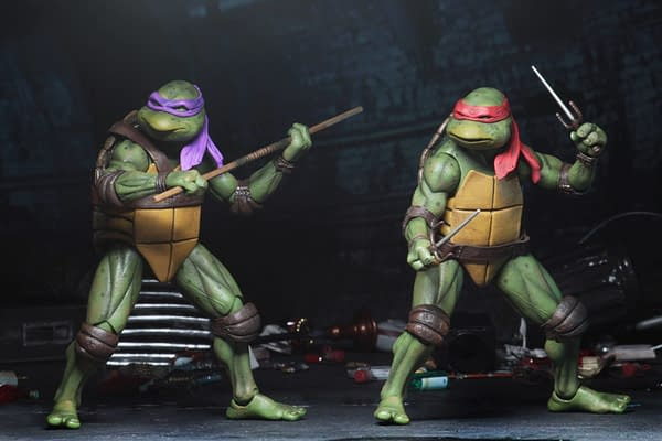 Sdcc 2018 NECA Exclusive TMNT 1990 Figure Set 7