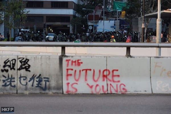"""""""The Future Is Young"""" Batman Dark Knight Message Now Part Of Hong Kong Protests"""