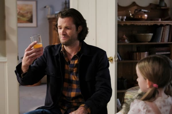 """Supernatural -- """"The Heroes' Journey"""" -- Image Number: SN1510a_0258bc.jpg -- Pictured: Jared Padalecki as Sam -- Photo: Bettina Strauss/The CW -- © 2020 The CW Network, LLC. All Rights Reserved."""