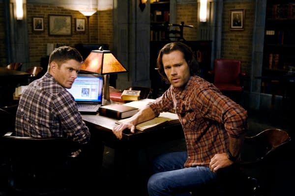 "Supernatural -- ""Destiny's Child"" -- Image Number: SN1513a_0528b.jpg -- Pictured (L-R): Jensen Ackles as Dean and Jared Padalecki as Sam -- Photo: Jeff Weddell/The CW -- © 2020 The CW Network, LLC. All Rights Reserved."