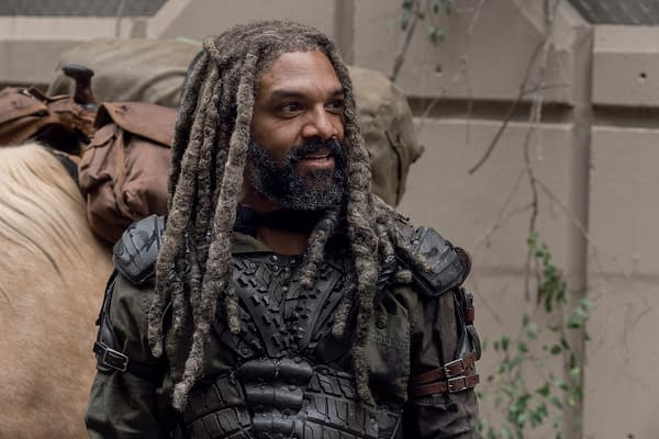 Khary Payton as Ezekiel - The Walking Dead _ Season 10, Episode 14 - Photo Credit: Jace Downs/AMC