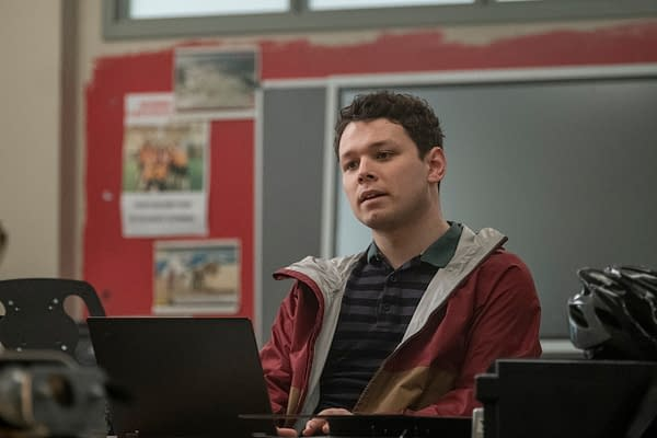 Kenny begins his career as an investigative journalist in Killing Eve, courtesy of BBC America.