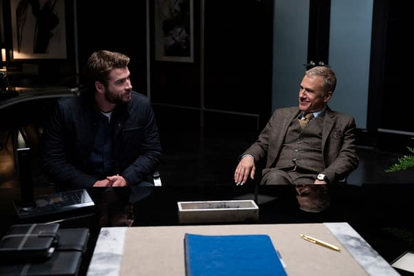Liam Hemsworth and Christophe Waltz enter into a deadly deal in Most Dangerous Game, courtesy of Quibi.