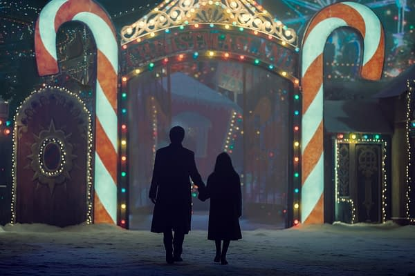 Zachary Quinto as Charlie Manx and Mattea Conforti as Millie Manx in NOS4A2, courtesy of AMC.