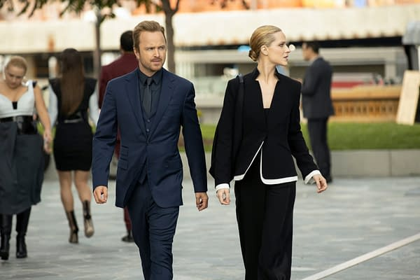 Dolores and Caleb make their move against Delos in Westworld, courtesy of HBO