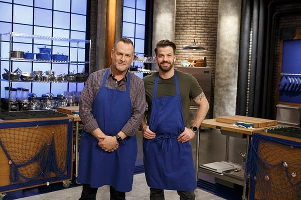 The Blue Team from Worst Cooks in America: Celebrity Edition, courtesy of Food Network.