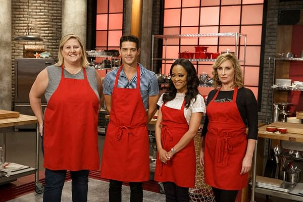 The Red Team from Worst Cooks in America: Celebrity Edition, courtesy of Food Network.