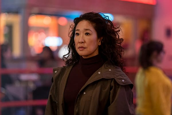 Sandra Oh as Eve Polastri in Killing Eve, courtesy of AMC Networks.