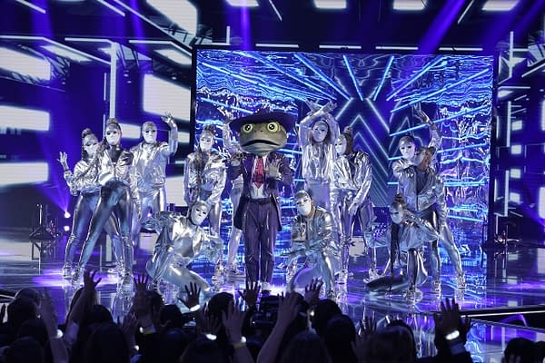 The Frog in the all-new ÒCouldnÕt Mask For Anything More: The Grand Finale!Ó season finale episode of THE MASKED SINGER airing Wednesday, May 20 (8:00-9:01 PM ET/PT) on FOX. CR: Michael Becker / FOX. © 2020 FOX Media LLC.