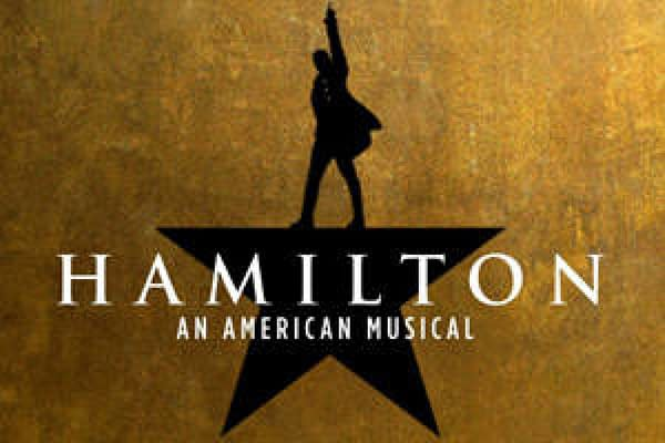 The official logo for the musical Hamilton.
