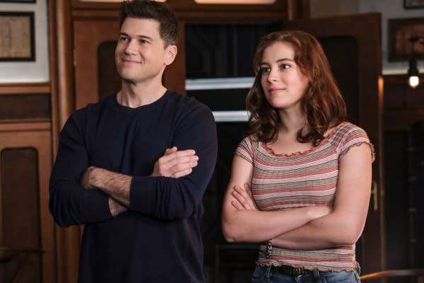 Nick Zano as Nate Heywood/Steel and Mina Sundwall as Lita on DC's Legends of Tomorrow, courtesy of The CW.