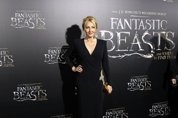 "J.K. Rowling attends the premiere ""Fantastic Beasts And Where To Find Them"" at Alice Tully Hall on November 10, 2016, in New York City. Editorial credit: JStone / Shutterstock.com"