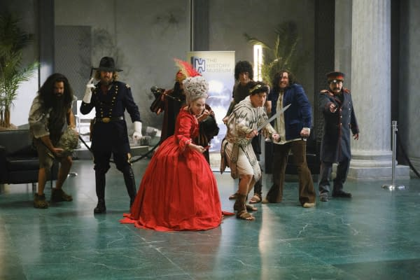"Legends of Tomorrow -- ""Swan Thong"" -- Image Number: LGN515c_0560b.jpg -- Pictured: Courtney Ford as Marie Antoinette -- Photo: Bettina Strauss/The CW -- © 2020 The CW Network, LLC. All Rights Reserved."