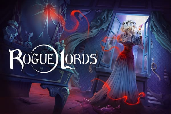 Key art for roguelike strategy game Rogue Lords, published by Nacom and co-developed by Cyanide Studios and Leiklr Studios.