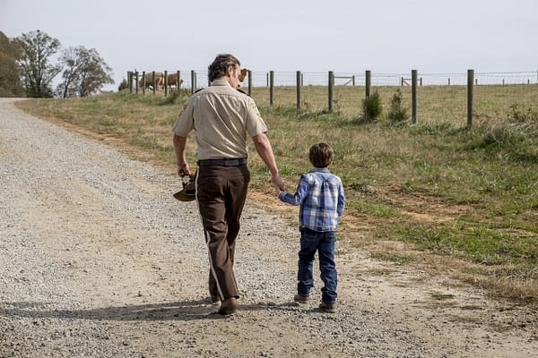 Rick and Carl in The Walking Dead (Image: AMC)
