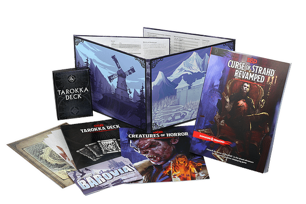 The contents for Curse of Strahd Revamped, courtesy of Wizards of the Coast.