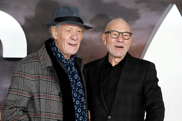 London, United Kingdom-January 15, 2020: Ian McKellen and Patrick Stewart attend the 'Star Trek; Picard' TV show premiere at the Odeon Luxe cinema in Leicester Square in London. (Image: Cubankite / Shutterstock.com)