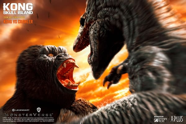 Kong Fights The Deadly Skullcrawler with Star Ace Toys