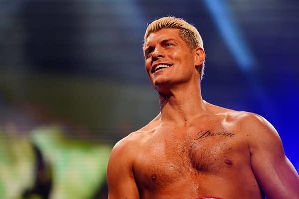Cody Rhodes appears on AEW Dynamite. (Photo credit: AEW)