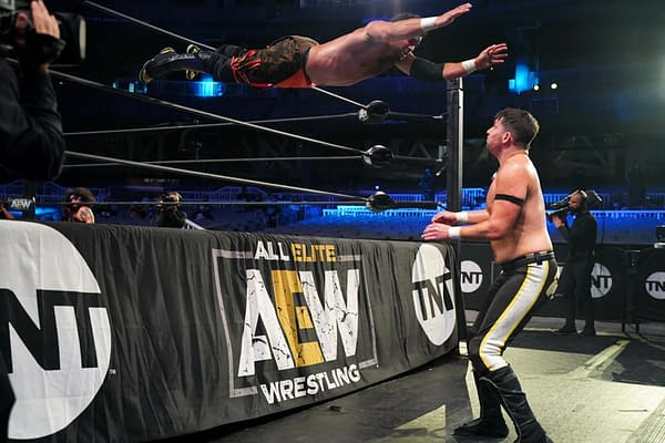 A moment from Proud and Powerful vs. Best Friends on AEW Dynamite 8/5/2020 [Photo: AEW]