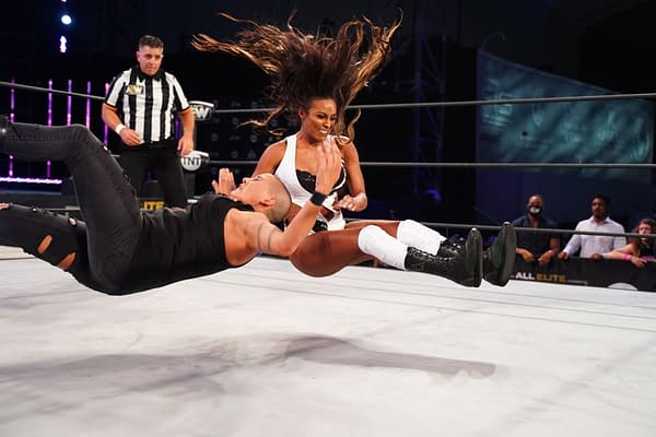 Brandi Rhodes wrestles Mel in AEW's Deadly Draw Tournament