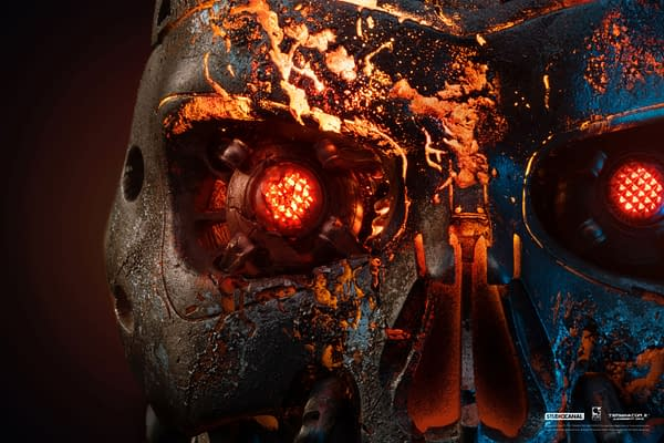 Terminator 2 T-800 is Battle Damaged with Studio Canal Art Mask