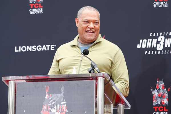 Laurence Fishburne at the Keanu Reeves Hand and Foot Print Ceremony at the TCL Chinese Theater IMAX on May 14, 2019 in Los Angeles, CA. Editorial credit: Kathy Hutchins / Shutterstock.com