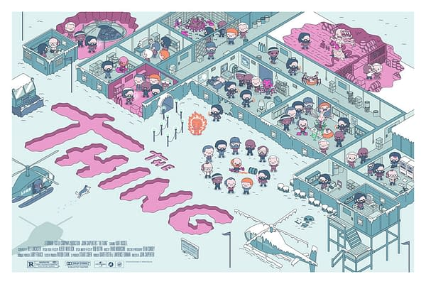 Mondo The Thing Poster By 100% Soft Drops Tomorrow