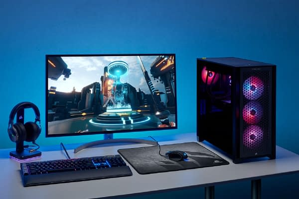 A look at the setup for the CORSAIR VENGEANCE PC.
