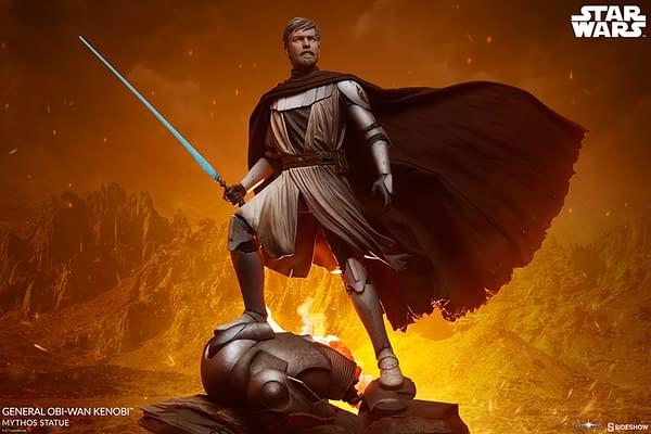 Star Wars General Obi-Wan Kenobi Reports for Duty with Sideshow