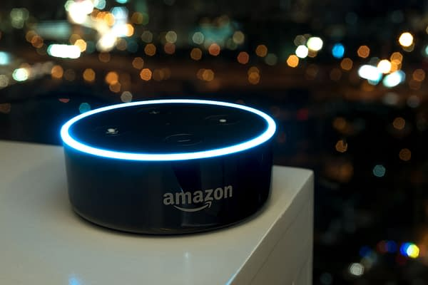 Selective focus on Amazon Echo dot version 2, the voice recognition streaming device from Amazon on table. February 24 2017 in Kuala Lumpur, Malaysia. Editorial credit: Zapp2Photo / Shutterstock.com