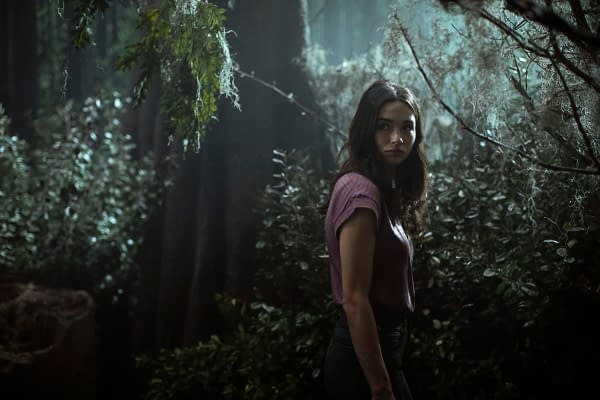 "Swamp Thing -- ""Darkness on the Edge of Town"" -- Image Number: SWP104a_0046 V1 -- Pictured: Crystal Reed as Dr. Abby Arcane -- Photo: Fred Norris / 2020 Warner Bros. Entertainment Inc. -- © 2020 Warner Bros. Entertainment Inc. All Rights Reserved."