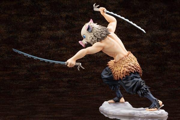 Demon Slayer Inosuke Hashibira Gets New Statue from Kotobukiya