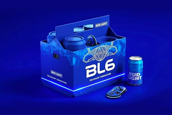 Gives a whole new meaning to cracking one open for the night. Courtesy of Anheuser-Busch.