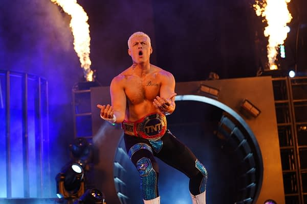 Cody Rhodes appears on AEW Dynamite. Photo Credit: Lee South / All Elite Wrestling