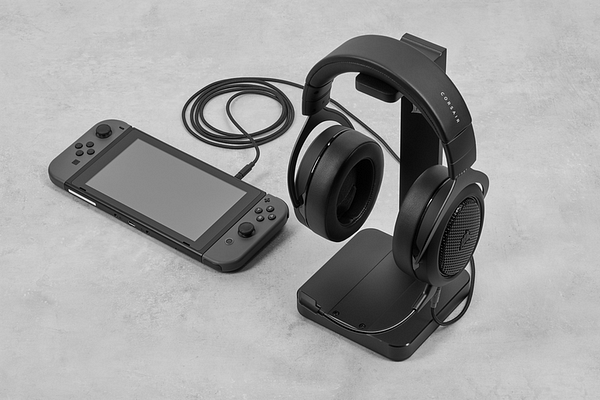A look at the HS70 Bluetooth with a Nintendo Switch, courtesy of CORSAIR.
