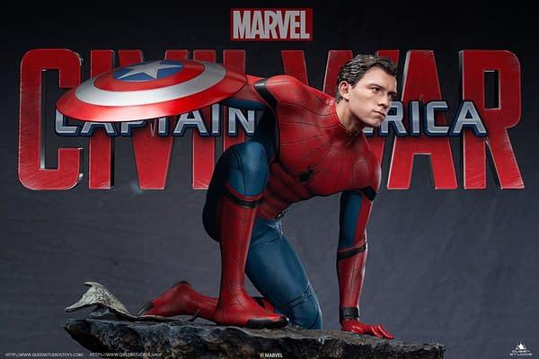 Spider-Man Dons Captain America's Shield in New Queen Studios Statue
