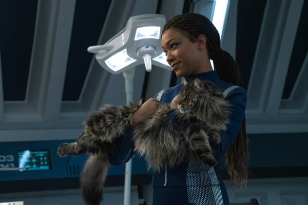 """""""Su'Kal"""" -- Ep#311 -- Pictured: Sonequa Martin-Green as Commander Burnham of the CBS All Access series STAR TREK: DISCOVERY. Photo Cr: Michael Gibson/CBS ©2020 CBS Interactive, Inc. All Rights Reserved."""