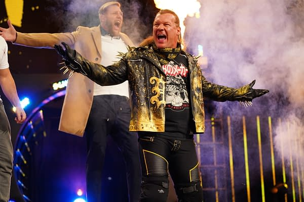 Chris Jericho appears on AEW Dynamite for Winter is Coming (Credit: All Elite Wrestling)